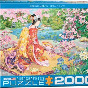 8220-0975 Puzzle Eurographics Geisha Haru No Uta de Haruyo Morita de 2000 piezas