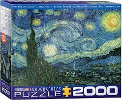 8220-1204 Puzzle Eurographics La Noche Estrellada de Van Gogh de 2000 piezas