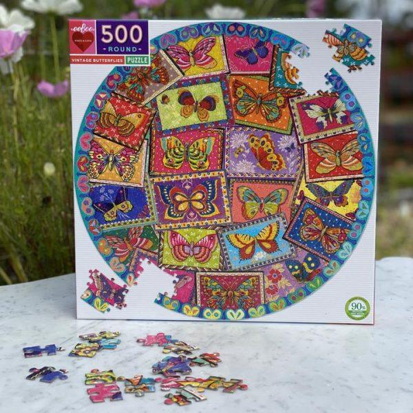 Puzzle eeBoo Mariposas 500 piezas redondo PZFVBF