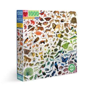 Puzzle eeBoo Mundo arcoíris de animales de 1000 piezas EPZTRBW