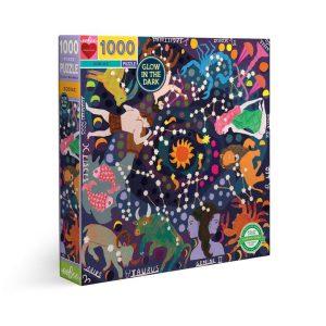 Puzzle eeBoo Zodíaco brillante en la oscuridad de 1000 piezas PZTZOD