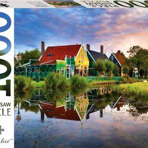 Puzzle MindBloggers Holanda Zaandam de 1000 piezas