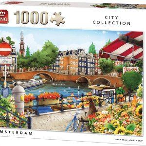Puzzle King Amsterdam de 1000 piezas