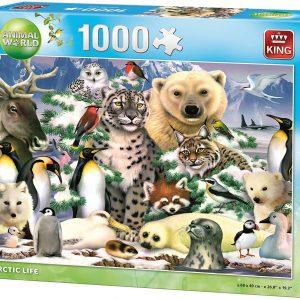 Puzzle King Animales Ártico de 1000 piezas