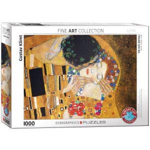 Puzzle Eurographics El Beso Klimt detalle de 1000 piezas