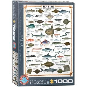 Puzzle Eurographics Peces del mar de 1000 piezas