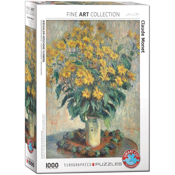 Puzzle Eurographics Flores de Alcachofa de Monet de 1000 piezas