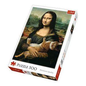 Puzzle Trefl Mona Lista Gato de 500 piezas