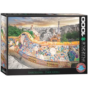 Puzzle Eurographics Barcelona Park Guell de 1000 piezas