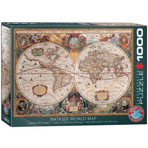 Puzzle Eurographics Mapa Antiguo de 1000 piezas