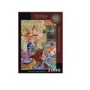 Puzzle Art & Fable Flores Window Nook de John Powell 1000 piezas