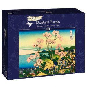 Puzzle Bluebird Katsushika Hokusai Tokaido de 1000 piezas