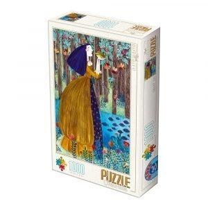 Puzzle DToys La Princesa y el Sapo de Andrea Kürti de 1000 piezas