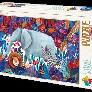 Puzzle DToys Animales tropical de Andrea Kürti de 1000 piezas