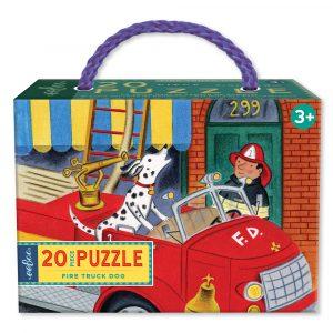 Puzzle niños eeBoo Bomberos de 20 piezas