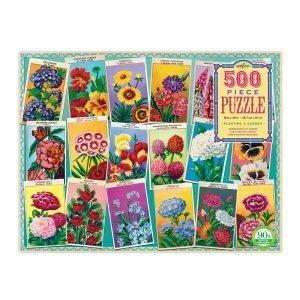 Puzzle eeBoo Flores de 500 piezas