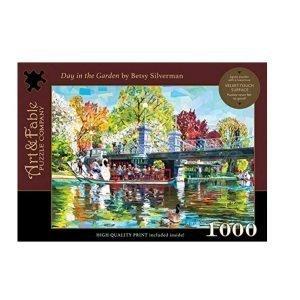 Puzzle Art & Fable Jardín de Betsy Silverman de 1000 piezas