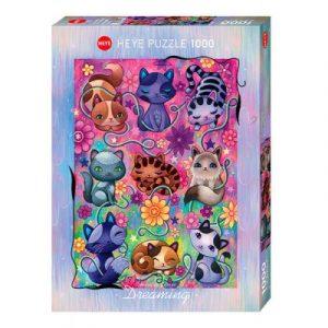 Puzzle Heye Gatos durmiendo de 1000 piezas