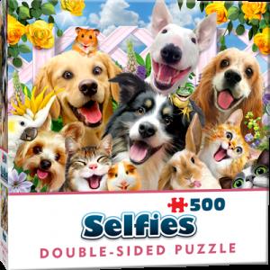 Puzzle Cheatwell Selfie Animales DOUBLE TROUBLE de 500 piezas