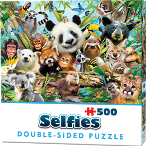 Puzzle Cheatwell Selfie Animales Jungla DOUBLE TROUBLE de 500 piezas