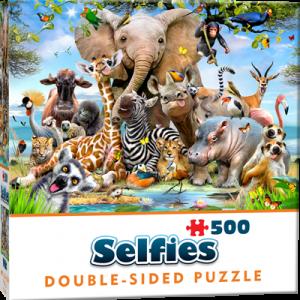 Puzzle Cheatwell Selfie Animales Selva DOUBLE TROUBLE de 500 piezas