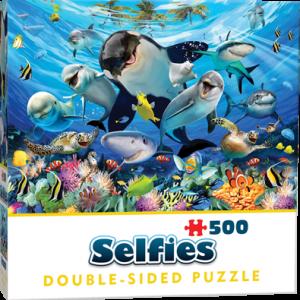 Puzzle Cheatwell Selfie Animales Océano DOUBLE TROUBLE de 500 piezas
