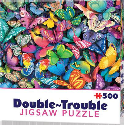 Puzzle Cheatwell Mariposas DOUBLE TROUBLE de 500 piezas