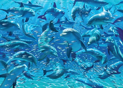 Puzzle Cheatwell Delfines DOUBLE TROUBLE de 500 piezas