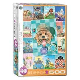 Puzzle Eurographics Perros Patchwork de 500 piezas