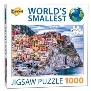 Puzzle Cheatwell Manarola Italia World's Smallest de 1000 piezas