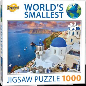 Puzzle Cheatwell Santorini Grecia World's Smallest de 1000 piezas