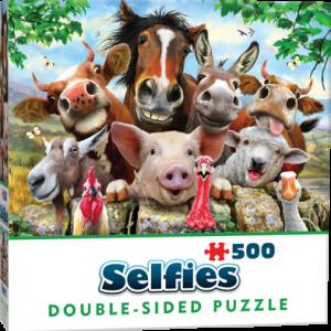 Puzzle Cheatwell Selfie Animales de Granja DOUBLE TROUBLE de 500 piezas