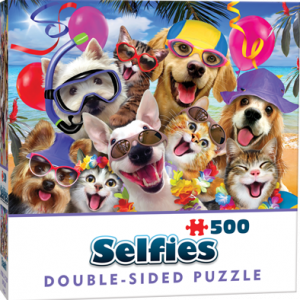 Puzzle Cheatwell Selfie Perros DOUBLE TROUBLE de 500 piezas