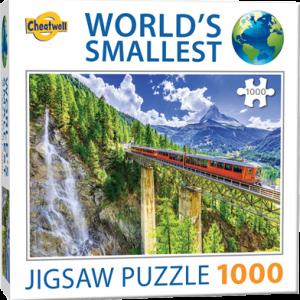 Puzzle Cheatwell Tren Matterhorn World's Smallest de 1000 piezas