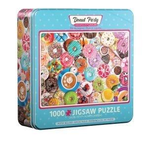 Puzzle Eurographics Donut Party Lata de 1000 piezas