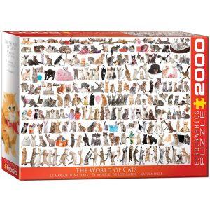Puzzle Eurographics Gatos de 2000 piezas