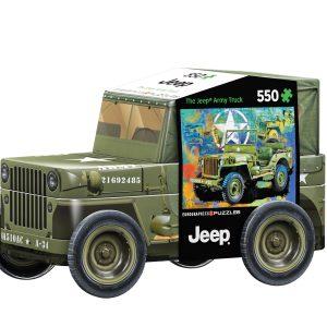 Puzzle Eurographics Jeep Militar Lata de 1000 piezas