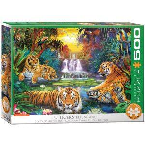 Puzzle Eurographics Paraiso Tigres de 500 piezas