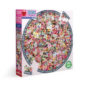 Puzzle eeBoo Women March de 500 piezas