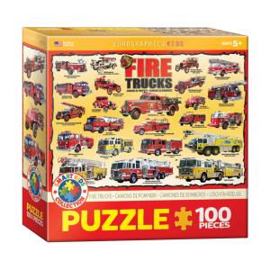 Puzzle niños Eurographics Bomberos de 100 piezas