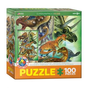 Puzzle niños Eurographics Dinosaurios Herbívoros de 100 piezas