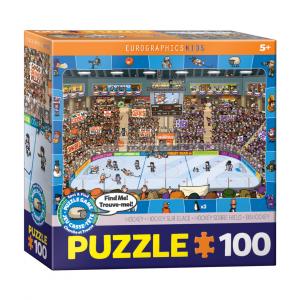 Puzzle niños Eurographics Hockey Spot & Find de 100 piezas