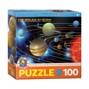 Puzzle niños Eurographics Sistema Solar de 100 piezas