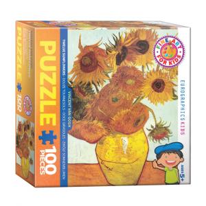 Puzzle niños Eurographics Girasoles de Van Gogh de 100 piezas