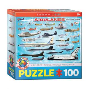 Puzzle niños Eurographics Aviones de 100 piezas