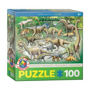 Puzzle niños Eurographics Dinosaurios de 100 piezas