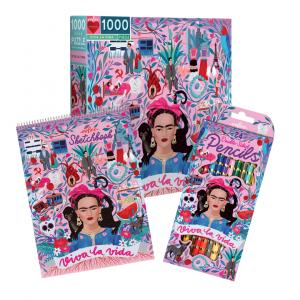 Pack eeBoo Frida Kahlo Puzzle + Libreta + Colores