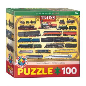 Puzzle niños Eurographics Trenes de 100 piezas