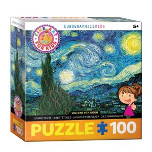 Puzzle niños EurographicsNoche Estrellada de Van Gogh de 100 piezas