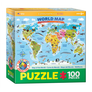 Puzzle niños Eurographics Dibujo Mundo de 100 piezas